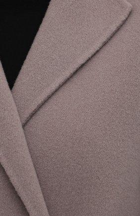 Женское шерстяное пальто с поясом GIORGIO ARMANI серого цвета, арт. 8WH0L002/T008G | Фото 5