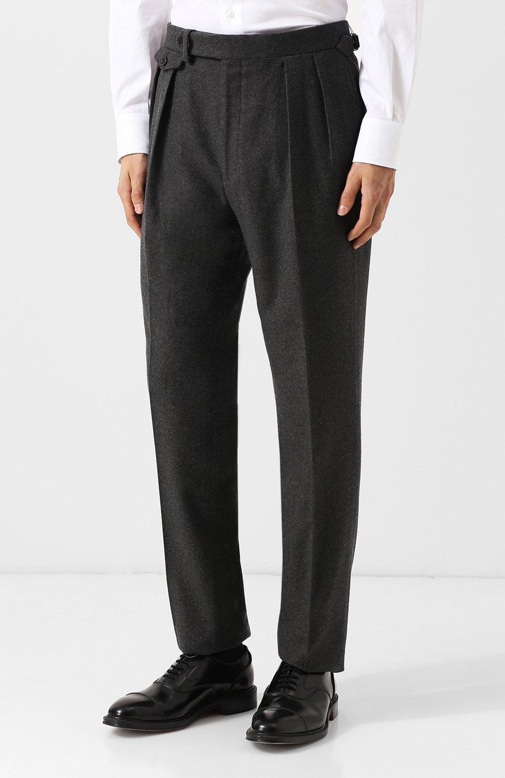 Шерстяные брюки прямого кроя | Фото №3