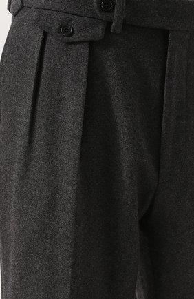 Шерстяные брюки прямого кроя | Фото №5