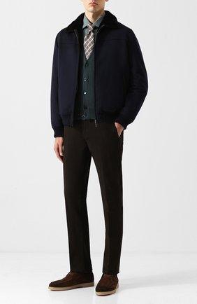 Мужской шерстяной жилет на пуговицах LORO PIANA темно-зеленого цвета, арт. FAI2862 | Фото 2