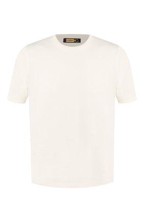 Хлопковая футболка с круглым вырезом Zilli белая | Фото №1