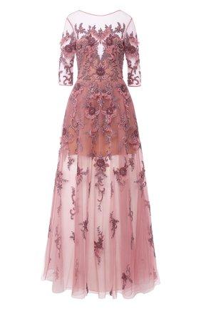 Платье-макси с декоративной отделкой | Фото №1