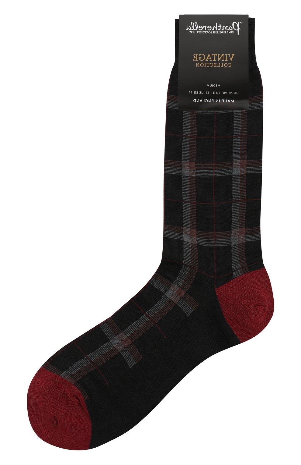 Мужские шерстяные носки PANTHERELLA бордового цвета, арт. 595473 | Фото 1