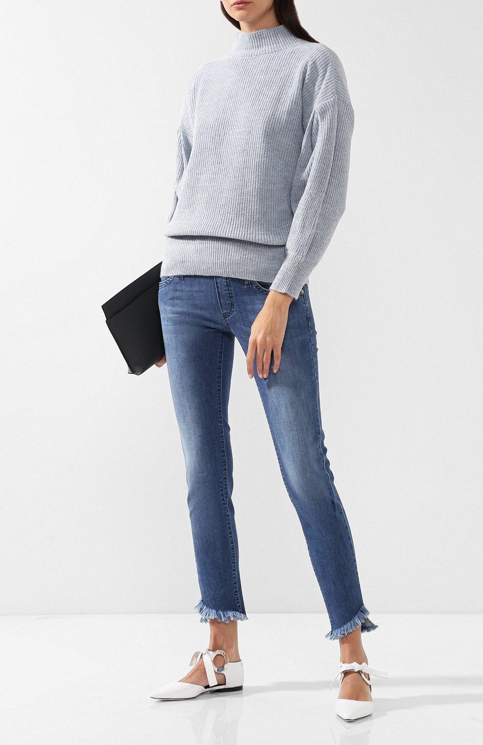 Вязаный пуловер с высоким воротником | Фото №2