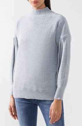 Вязаный пуловер с высоким воротником | Фото №3