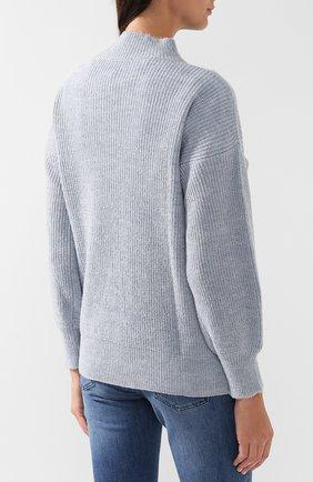 Вязаный пуловер с высоким воротником | Фото №4