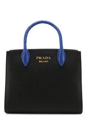 Женская сумка-тоут bibliothèque PRADA разноцветного цвета, арт. 1BA204-2EVL-F0LZS-OOF | Фото 1