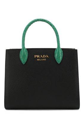 Женская сумка-тоут bibliothèque PRADA разноцветного цвета, арт. 1BA204-2EVL-F0V73-OOF | Фото 1