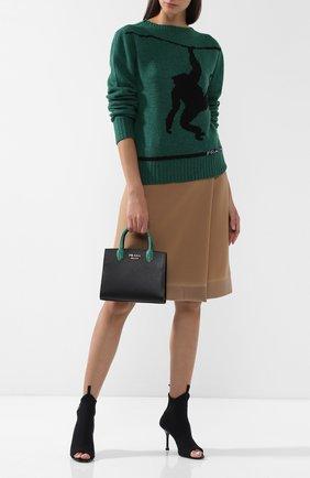 Женская сумка-тоут bibliothèque PRADA разноцветного цвета, арт. 1BA204-2EVL-F0V73-OOF | Фото 2