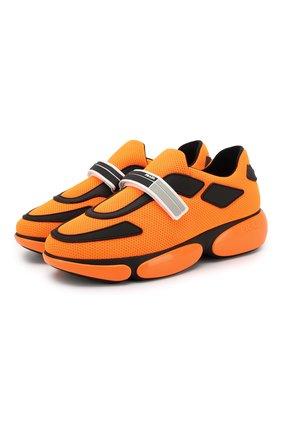 Текстильные кроссовки с застежкой велькро | Фото №1