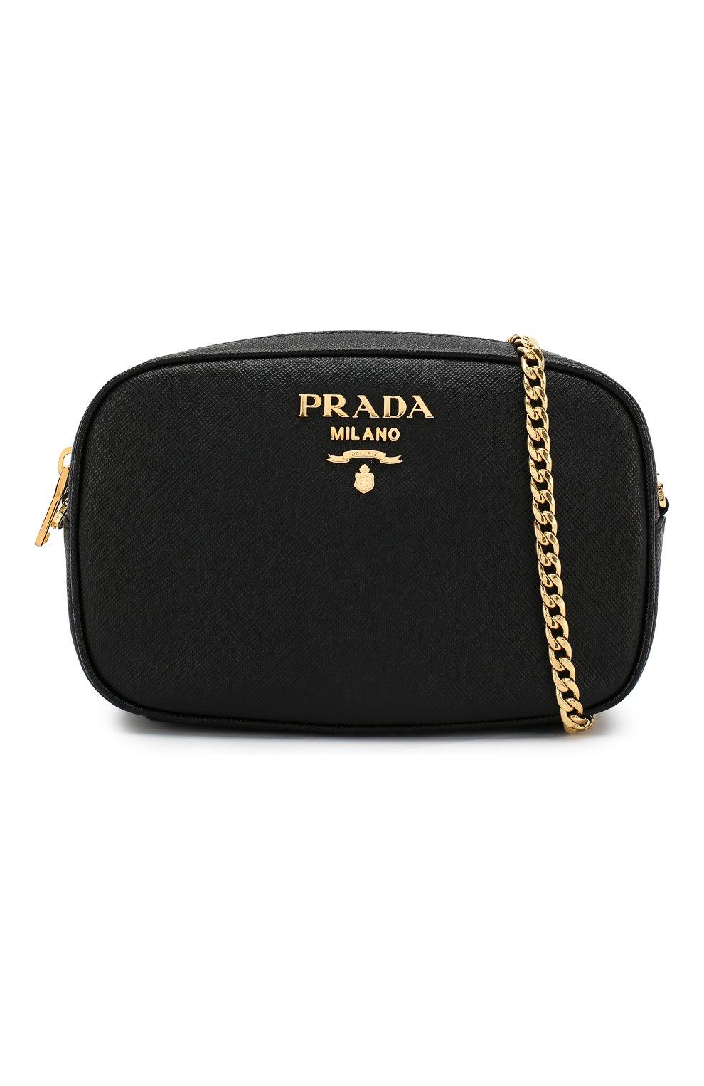 a2386134bce9 Женская черная поясная сумка saffiano PRADA — купить за 68000 руб. в ...