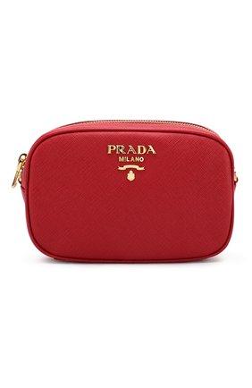 Поясная сумка Saffiano Prada красная | Фото №1