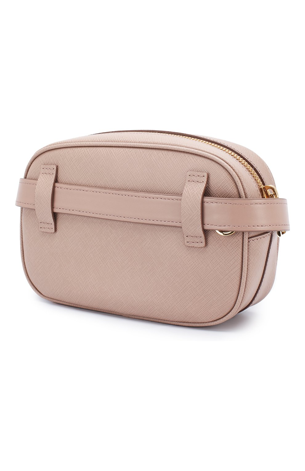 dfcb312c18c8 Женская бежевая поясная сумка saffiano PRADA — купить за 68000 руб ...