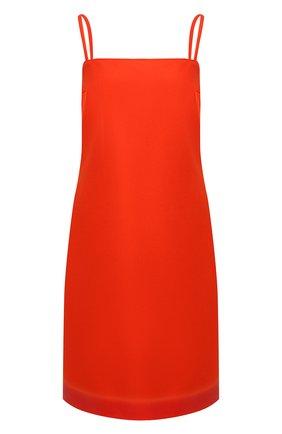 Однотонное мини-платье на тонких бретельках Prada разноцветное | Фото №1