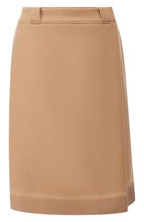 Шерстяная юбка с запахом Prada разноцветная | Фото №1
