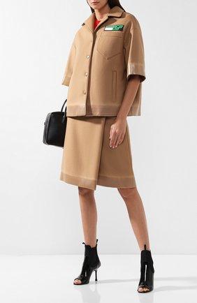 Шерстяной жакет с коротким рукавом Prada разноцветный | Фото №1