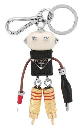 Женский брелок для ключей с декором PRADA черного цвета, арт. 1TR097-UYY-F0002 | Фото 1
