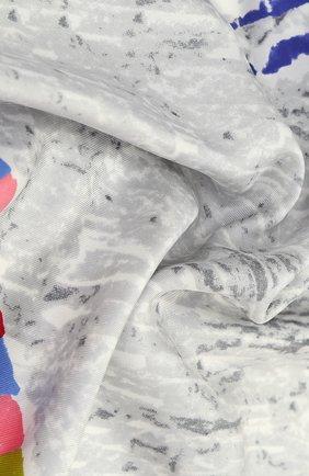 Шелковый платок с принтом Prada разноцветный | Фото №1