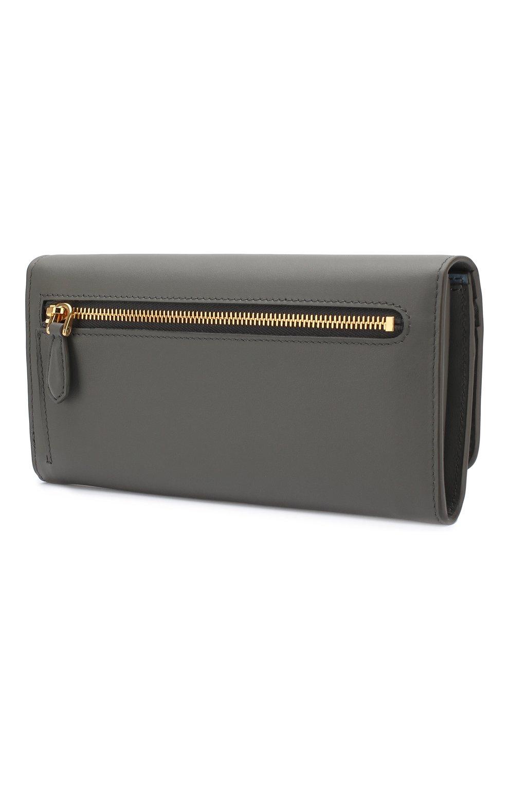 Кожаный кошелек с клапаном и принтом | Фото №2