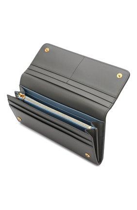 Кожаный кошелек с клапаном и принтом | Фото №3