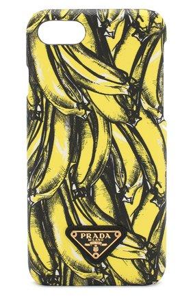 Кожаный чехол для iPhone 7/8 с принтом | Фото №1