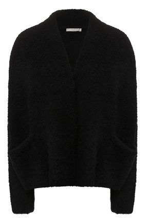 Кардиган из смеси шерсти и кашемира с шелком Vince черный | Фото №1