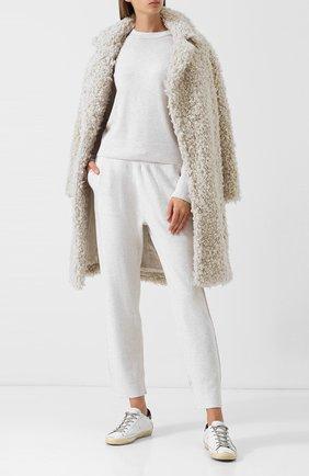 Кашемировый пуловер с круглым вырезом Vince кремовый | Фото №1