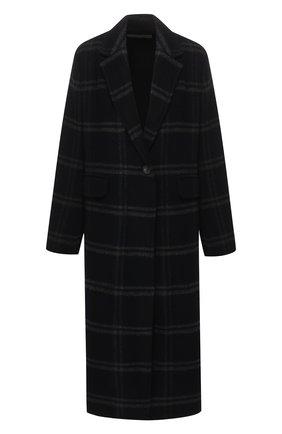 Шерстяное пальто в клетку Vince темно-серого цвета | Фото №1