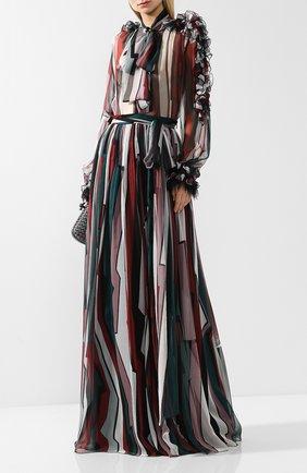 Женская полупрозрачная шелковая блуза с принтом Zuhair Murad, цвет разноцветный, арт. SHP18316/CHSI005 в ЦУМ | Фото №1