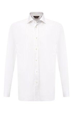 Мужская хлопковая сорочка с воротником кент ZEGNA COUTURE белого цвета, арт. 402300/9NS0RI | Фото 1
