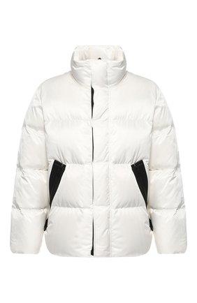 Пуховая куртка на молнии с воротником-стойкой   Фото №1