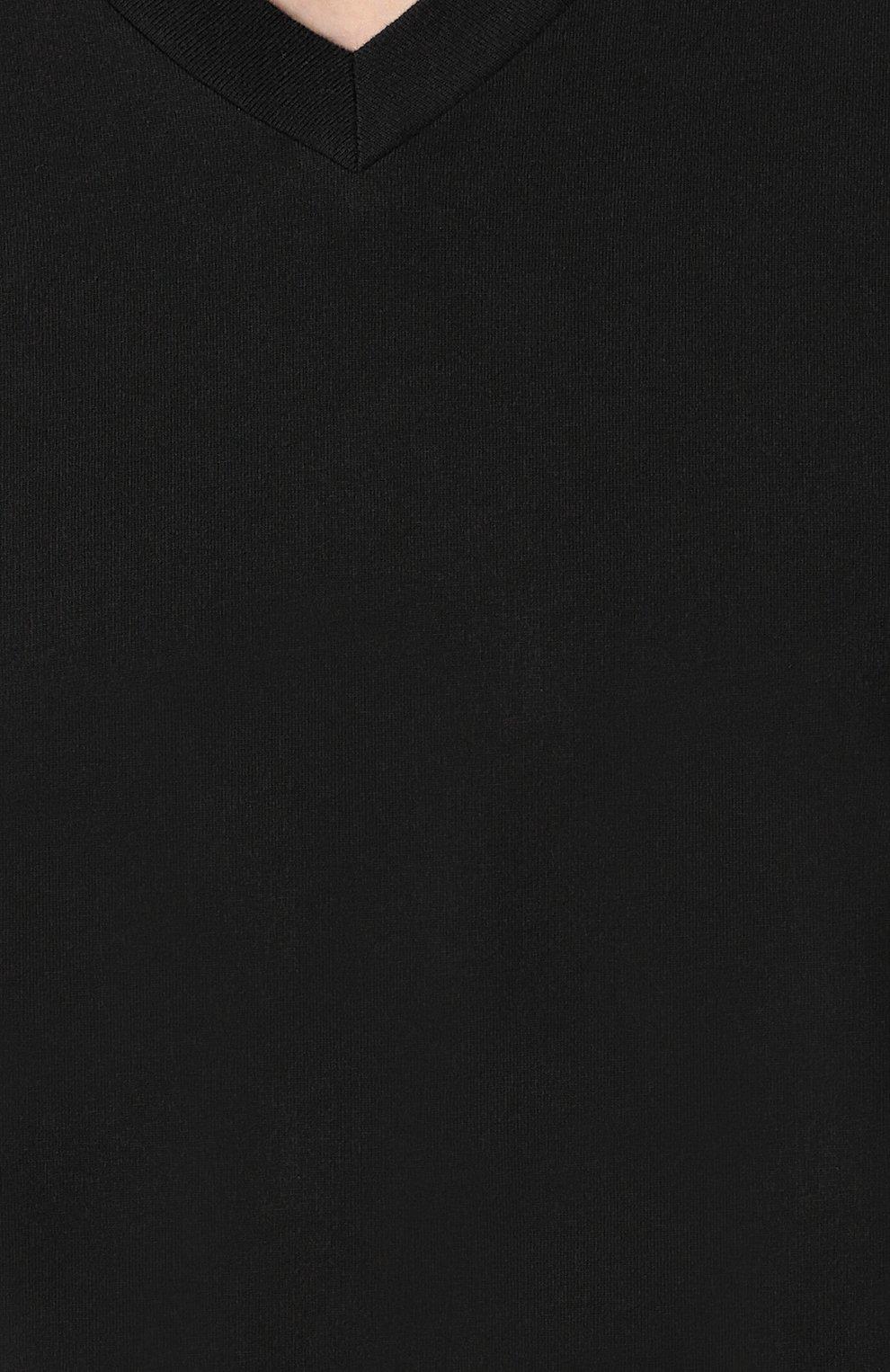 Мужская хлопковая футболка с v-образным вырезом TOM FORD черного цвета, арт. BR238/TFJ927   Фото 5