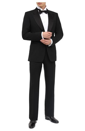 Мужской шерстяной смокинг с шелковыми лацканами TOM FORD черного цвета, арт. 422R12/21RP48 | Фото 1