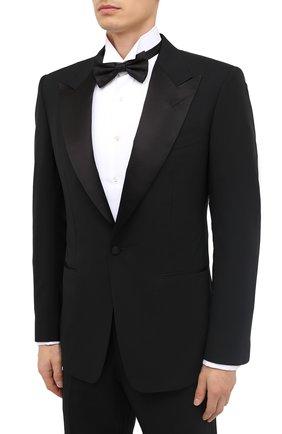 Мужской шерстяной смокинг с шелковыми лацканами TOM FORD черного цвета, арт. 422R12/21RP48 | Фото 2