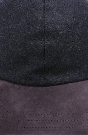 Мужской шерстяная бейсболка LUCIANO BARBERA темно-синего цвета, арт. 128051/25023 | Фото 3