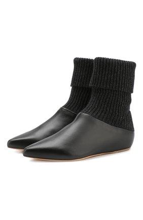 Кожаные ботинки Rocia с текстильной вставкой | Фото №1