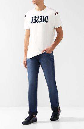 Джинсы прямого кроя Paige синие | Фото №1