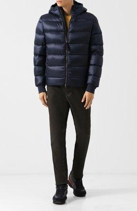 Пуховая куртка Pharrell на молнии с капюшоном Parajumpers темно-синяя   Фото №1