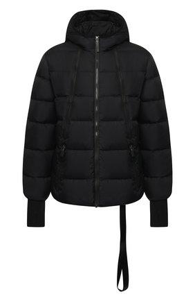 Стеганая куртка на молнии с капюшоном BLACKBARRETT черная | Фото №1