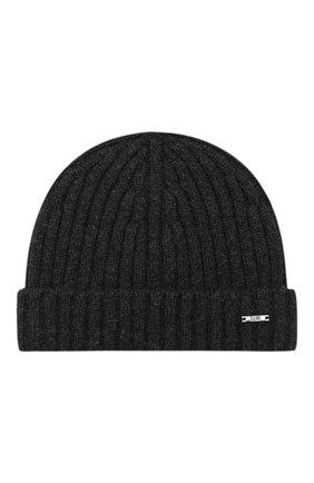 Мужская кашемировая шапка BOSS черного цвета, арт. 50391584 | Фото 1