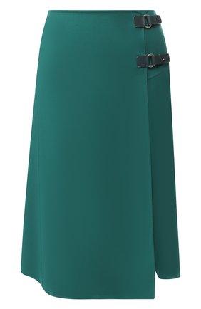 Однотонная шерстяная юбка | Фото №1