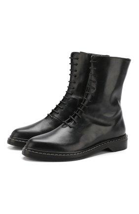 Кожаные ботинки Fara на шнуровке | Фото №1
