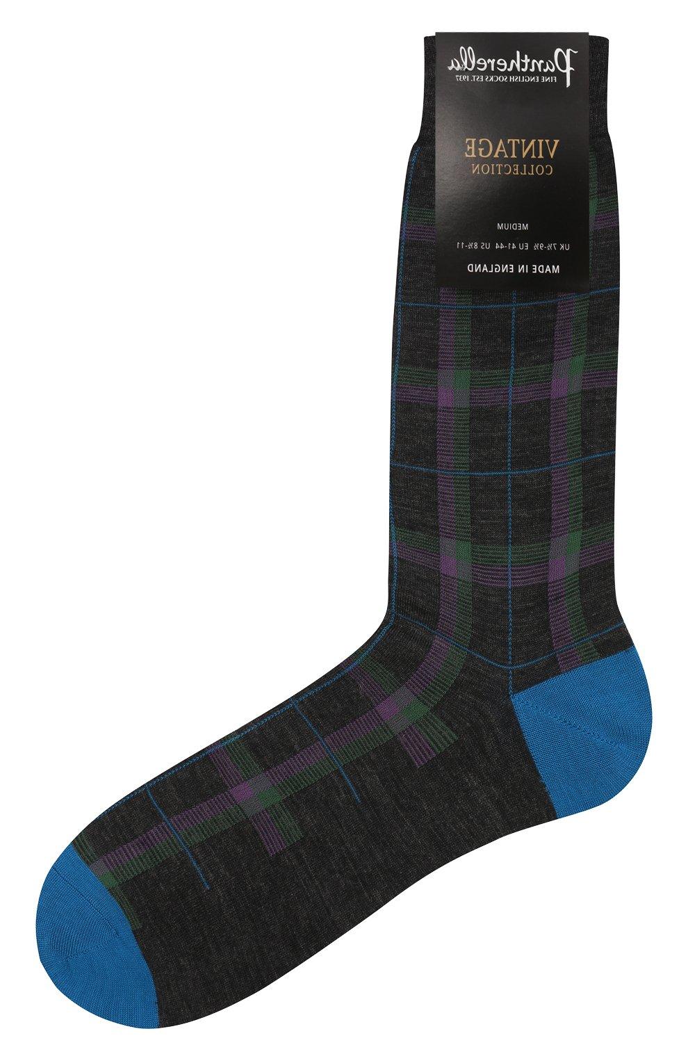 Мужские шерстяные носки PANTHERELLA бирюзового цвета, арт. 595473   Фото 1