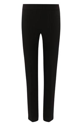 Однотонные укороченные брюки DKNY черные | Фото №1