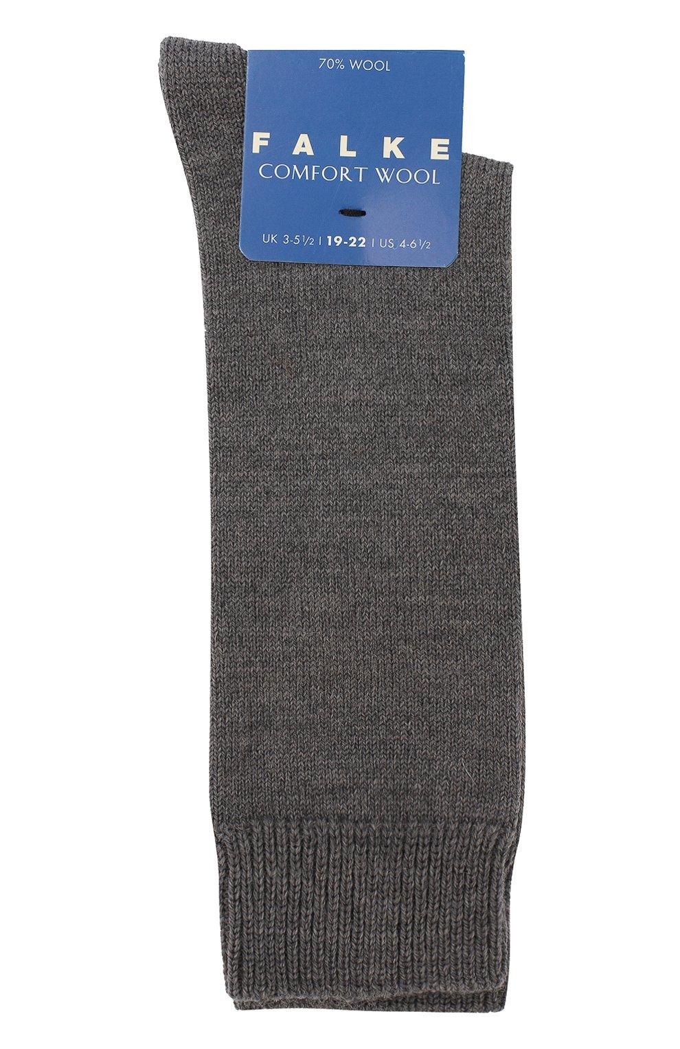 Детские гольфы comfort wool FALKE серого цвета, арт. 11488 | Фото 1