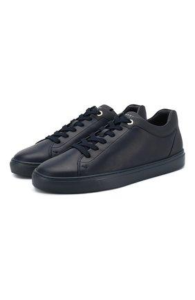 Кожаные кеды Tom на шнуровке | Фото №1
