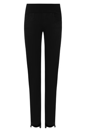 Женские укороченные джинсы с бахромой PIETRO BRUNELLI черного цвета, арт. JP0043/FF/DE0078 | Фото 1