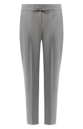 Шерстяные брюки со стрелками Windsor серые | Фото №1