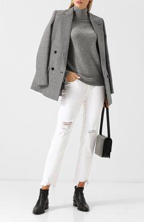 Кашемировый пуловер с высоким воротником Vince серый | Фото №1