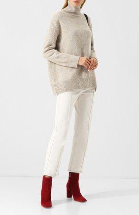 Кашемировый пуловер с высоким воротником Vince светло-бежевый | Фото №1